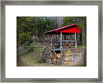 Old Mill Of Guilford Pumphouse Framed Print by Sandi OReilly