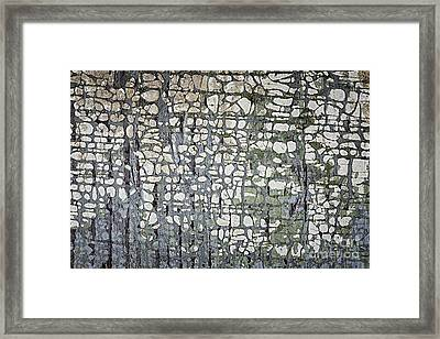 Old Painted Wood Abstract No.6 Framed Print
