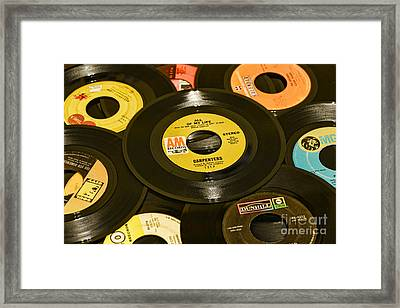 Old Records Framed Print by Paul Ward