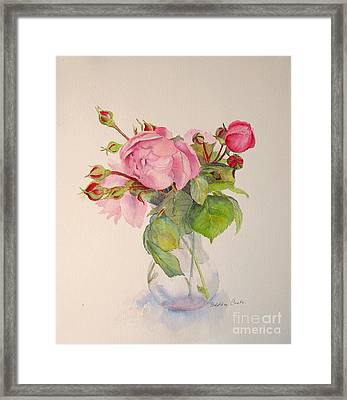Framed Print featuring the painting Old Roses by Beatrice Cloake
