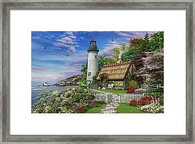Old Sea Cottage Framed Print