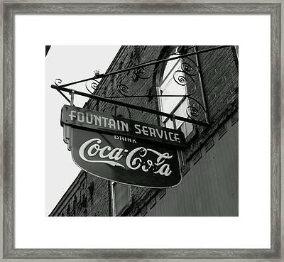 Old Sign Framed Print