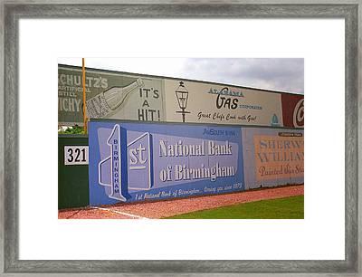 Old Time Baseball Field Framed Print by Frank Romeo