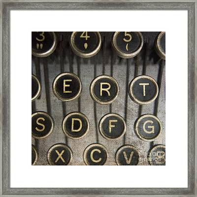Old Typewrater Framed Print