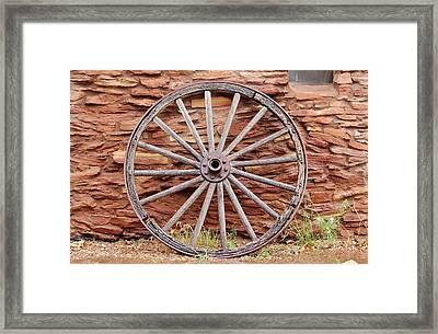 Old Wagon Wheel 2 Framed Print