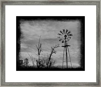 Old West Wind Wheel Framed Print by William Havle