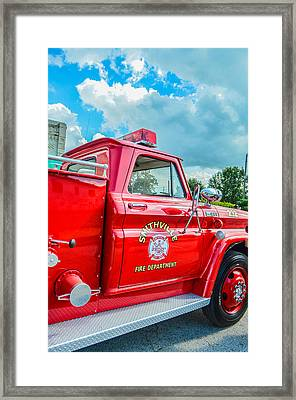 Ole Time Fire Truck Series Framed Print by Kelly Kitchens