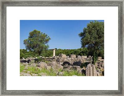 Olympia, Peloponnese, Greece. Ancient Framed Print