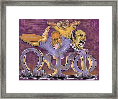Omega Psi Phi II Framed Print