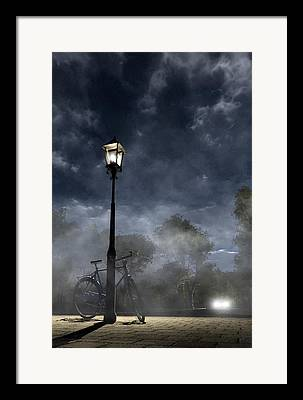 Night Lamp Digital Art Framed Prints