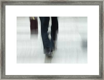 On The Go Framed Print by Karol Livote