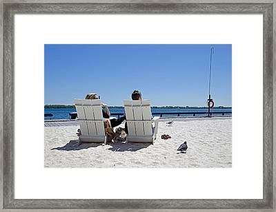 Framed Print featuring the photograph On The Waterfront by Keith Armstrong
