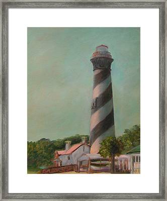 One Day At The St. Augustine Lighthouse Framed Print