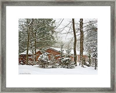 Framed Print featuring the photograph One Snowy Day  by Ann Murphy