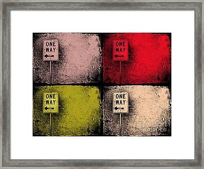 One Way Street Framed Print by Tara Turner