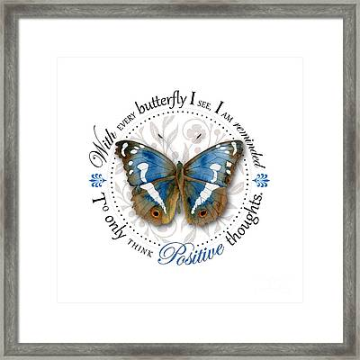Only Think Positive Thoughts Framed Print by Amy Kirkpatrick