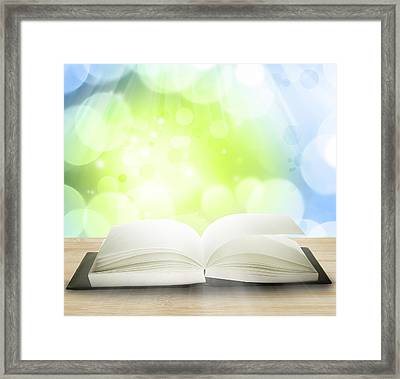 Open Book Framed Print by Les Cunliffe