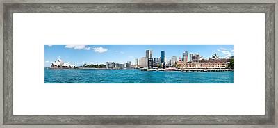 Opera House With City Skyline, Sydney Framed Print