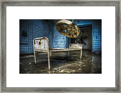 Operation Time Framed Print by Nathan Wright