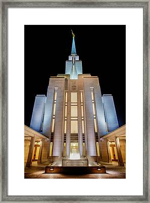 Oquirrh Mountain Temple 1 Framed Print by Chad Dutson