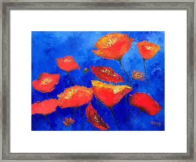 Orange Poppies Framed Print by Jan Matson