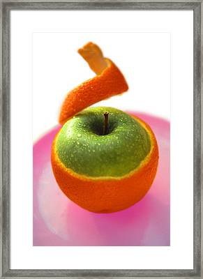 Framed Print featuring the photograph Oranple by Richard Piper