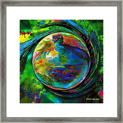 Orb Of Pavone Framed Print by Robin Moline