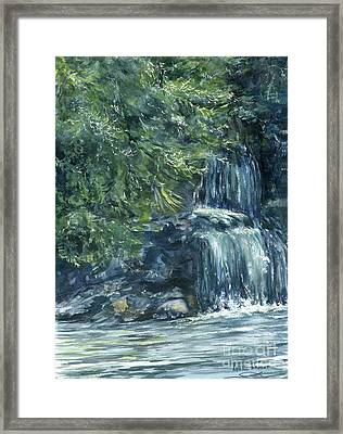 Oregon Waterfall Framed Print by Lynne Wright