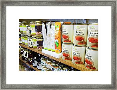 Organic Farm Shop Display Framed Print