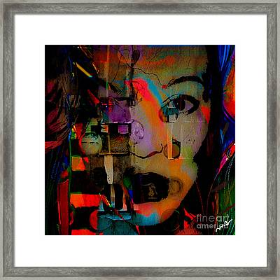 Original Abstract Framed Print by Marvin Blaine