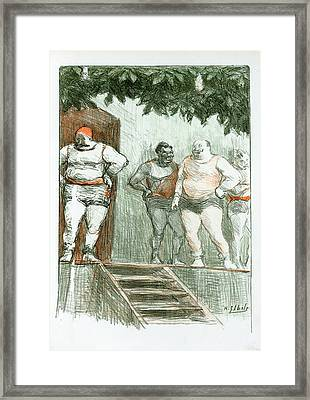 Original Drawing For Les Maîtres De Lposter Framed Print