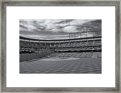 Oriole Park At Camden Yards Stadium Framed Print by Susan Candelario