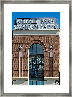 Oriole Park At Camden Yards Framed Print by Susan Candelario