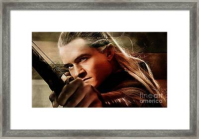 Orlando Bloom Framed Print by Marvin Blaine
