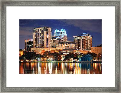 Orlando Downtown Architecture Framed Print