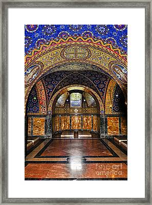Orthodox Church Interior Framed Print