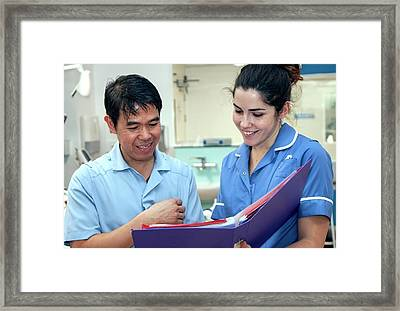 Orthopaedics Ward Framed Print by Life In View