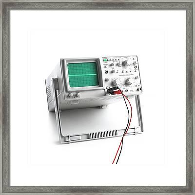 Oscilloscope Framed Print