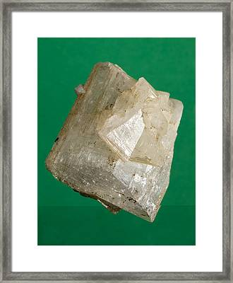 Othoclase Crystals Framed Print by Science Photo Library