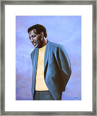 Otis Redding Painting Framed Print by Paul Meijering