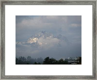 Out Of The Clouds Framed Print by Greg Patzer