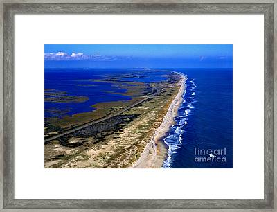 Outer Banks Aerial Framed Print by Thomas R Fletcher