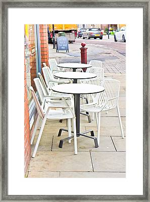 Outside Cafe Framed Print