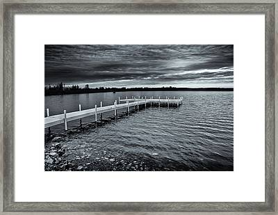 Framed Print featuring the photograph Overcast by Greg Jackson
