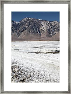 Owens Lake Re-irrigation Framed Print