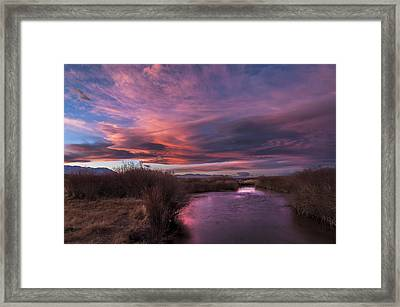 Owens River Sunset Framed Print