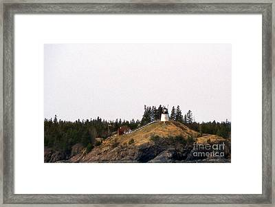 Owls Head Lighthouse Framed Print by Skip Willits