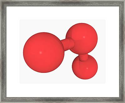 Ozone Oxygen Molecule Framed Print by Laguna Design/science Photo Library