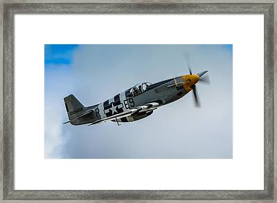 P 51 Mustang Fighter Plane  Framed Print by Puget  Exposure
