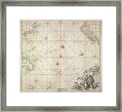 Pacific Ocean Framed Print by British Library